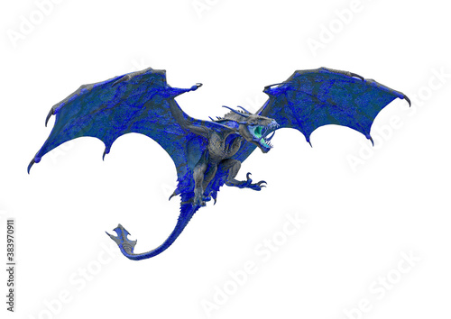 master dragon in white background