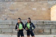 Fierce Sporty Twin Sisters Pos...