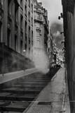 Fototapeta Fototapety na drzwi - smoke in the street - stairs