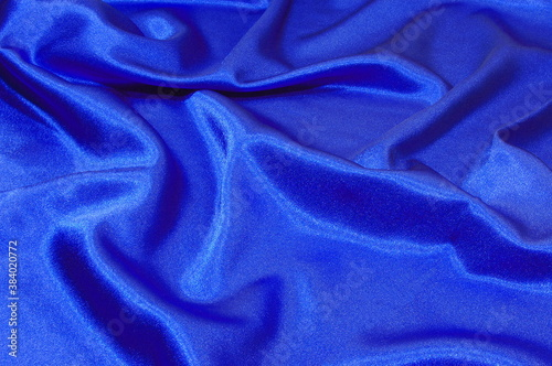 Fotografie, Obraz blue satin background