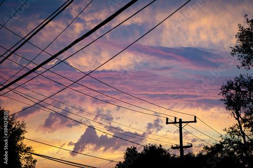 Fototapeta sunset sky