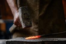 Close Up Blacksmith Working Me...
