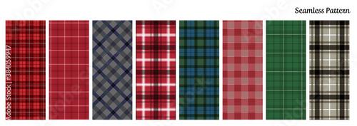 Foto seamless pattern04 チェック柄パターンセット