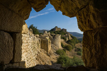 Nimrod Fortress From A Window In The Western Battlement.