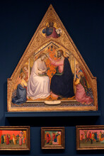 The Courtauld Gallery. Lorenzo Monaco. The Coronation Of The Virgin. Around 1388-90. Tempera On Panel. United Kingdom. 25/02/2017