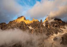 Sunset On Dolomite - Pale Di San Martino Group