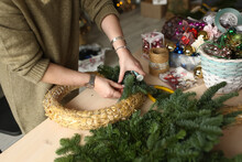 Women In The Room Make Wreaths...
