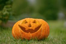 Close-up, Jack Lantern Pumpkin...