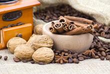 Anise, Cinnamon Sticks, Coffee...