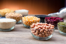 Peanuts In A Bowl Wood Table. ...