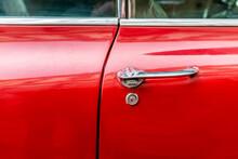 Red 60s Classic Car Door Handle