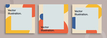 Set Of Editable Templates For Instagram Post, Facebook Square Frame, Social Media, Advertisement, And Business Promotion, Fresh Design With Color And Minimalist Vector