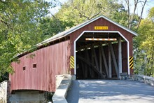 Covered Bridge In Lancaster County PA USA