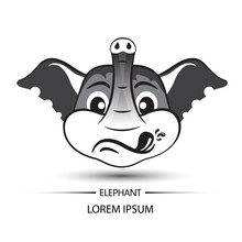 Elephant Face Touchy Logo And ...