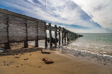 Old Wooden Groynes At Seaford ...