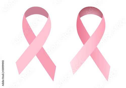 Fotografía Lazos rosas por el cáncer de mama.