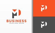 Monogram Letters PM Logo