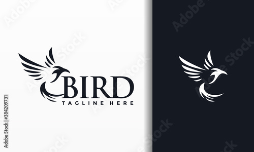 Fotografie, Tablou creative hummingbird logo