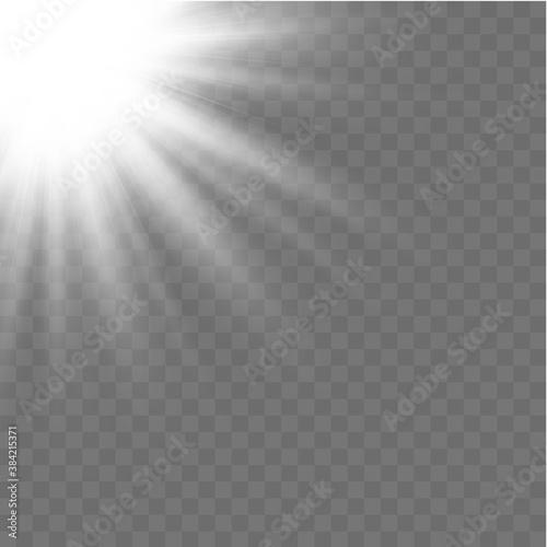 Fototapeta Horizontal white rays. obraz na płótnie