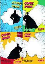 4 Colorful Comic Magazine Cover Template