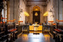 Interior View Of Saint Paul's Cathedral In London