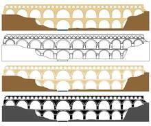 Pont Du Gard, Aqueduct In France.