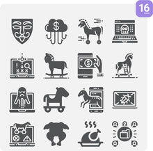 Simple Set Of Devoid Related Filled Icons.