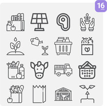 Simple Set Of Shelves Related Lineal Icons.