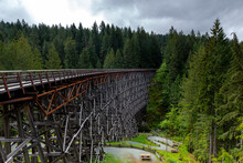The Historic Kinsol Trestle, Cowichan Valley Trail In The Cowichan Region, Vancouver Island, British Colombia, Canada.