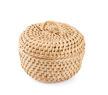 Wicker Basket An Isolated On White Background