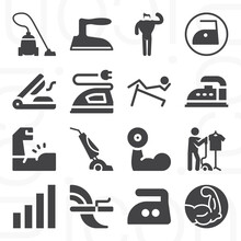 16 Pack Of Robust  Filled Web Icons Set