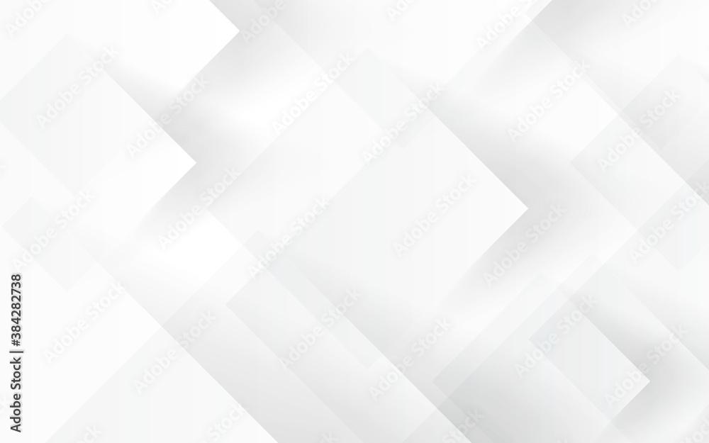 Fototapeta 白い抽象的な背景 四角形