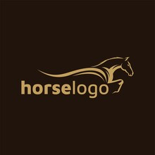 Luxury Horse Logo Formed With Simple And Modern Shape. Vector Illustration