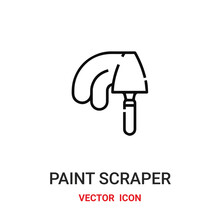 Paint Scraper Icon Vector Symbol. Paint Scraper Symbol Icon Vector For Your Design. Modern Outline Icon For Your Website And Mobile App Design.
