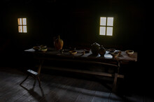 Interior Of An Old Country Far...