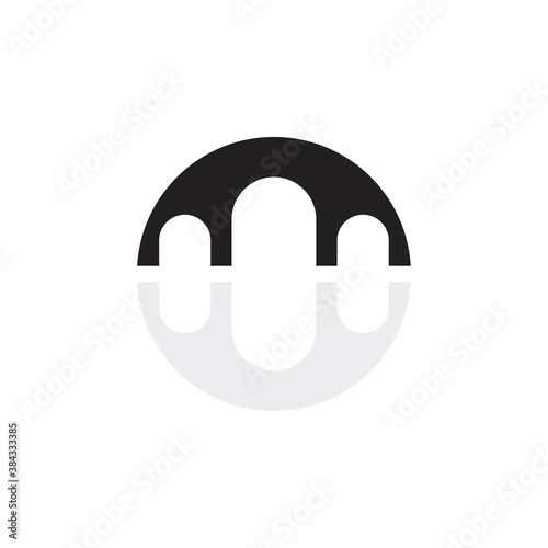 Leinwand Poster Bridge icon logo design vector