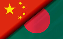 Flags Of The China And Banglad...