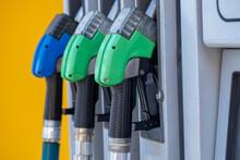 Fuel Pumps At A Gas Station. C...