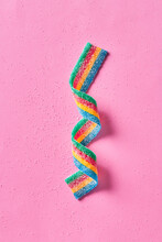 Colorful Sugar Candy Ribbon On...