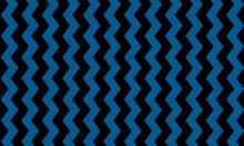 Seamless Wavy Black Vertical Zig Zag Chevron Pattern On A Blue Background Vector
