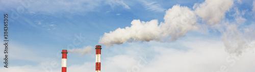 Fotomural Smoke from chimney