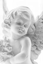 A Close Up Of A Gypsum Angel S...