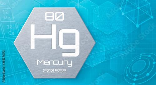 Obraz na plátne Chemical element of the periodic table - Mercury