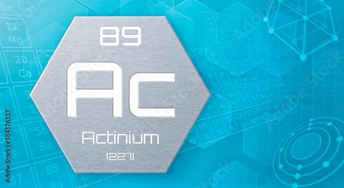 Photo Chemical element of the periodic table - Actinium