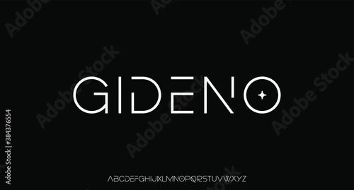 Obraz modern futuristic thin lines font vector - fototapety do salonu