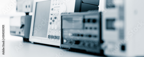 Fotografie, Obraz Measuring instruments in the laboratory for the development of modern electronic