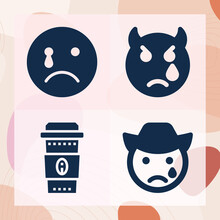 Simple Set Of Tears Related Filled Icons