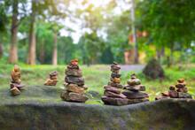 Balanced Rough Stone Pyrami, S...