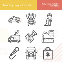 Simple Set Of Carol Related Lineal Icons.