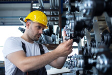 Industrial Worker Working At P...